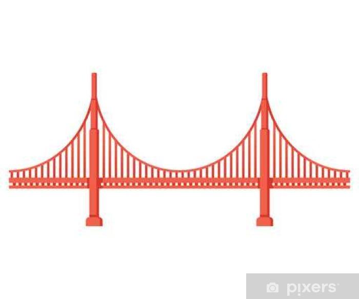 Naklejka Pixerstick Most Golden Gate - Budynki i architektura