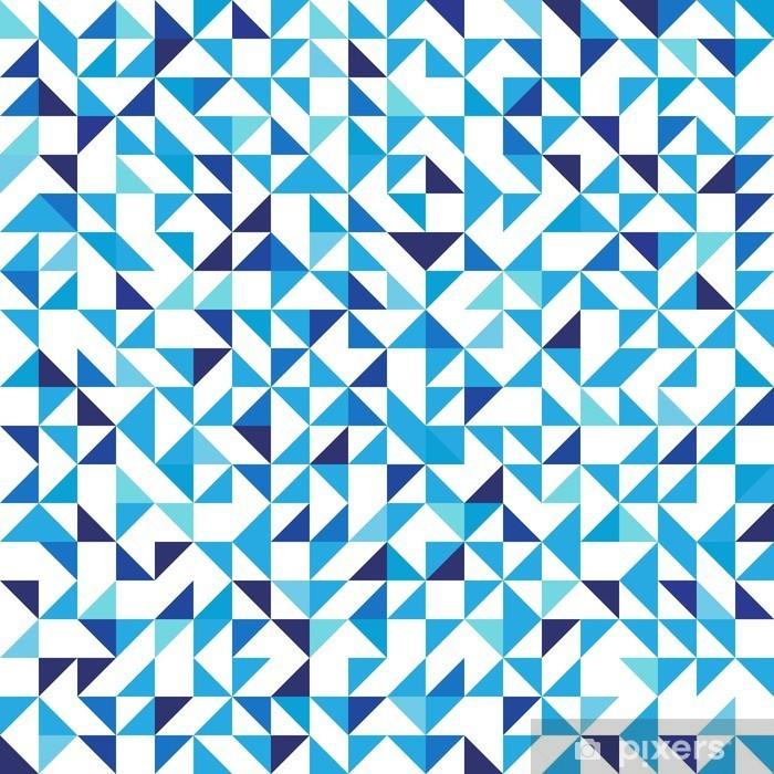 Carta Da Parati Sfondo Geometrico Blu Con Triangoli Seamless