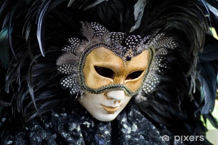 Papier peint vinyle Carnaval de Venise masque costume - Divertissements