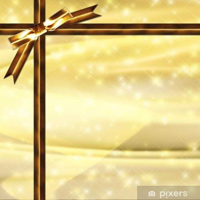 Naklejka Na Laptopa Złoty Wstążki I Oświetlenie