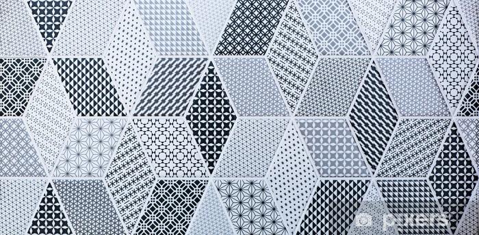Sticker Pixerstick Carrelage mosaïque abstraite pour mur et sol - Ressources graphiques