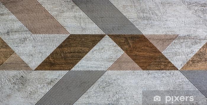 Carta da parati piastrelle con forme geometriche u pixers