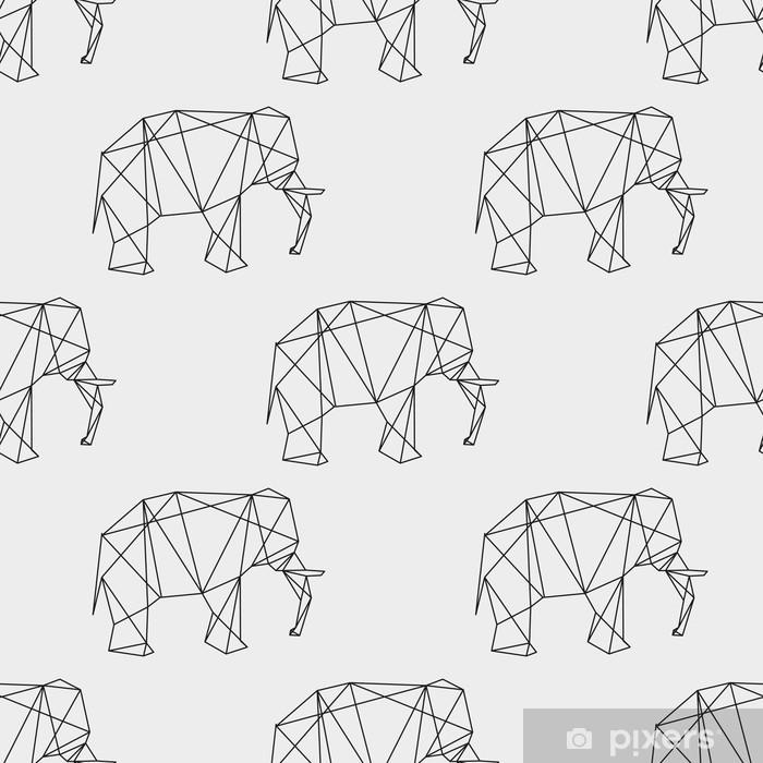 Vinyl-Fototapete Nahtlose Elefant geometrische Muster - Grafische Elemente