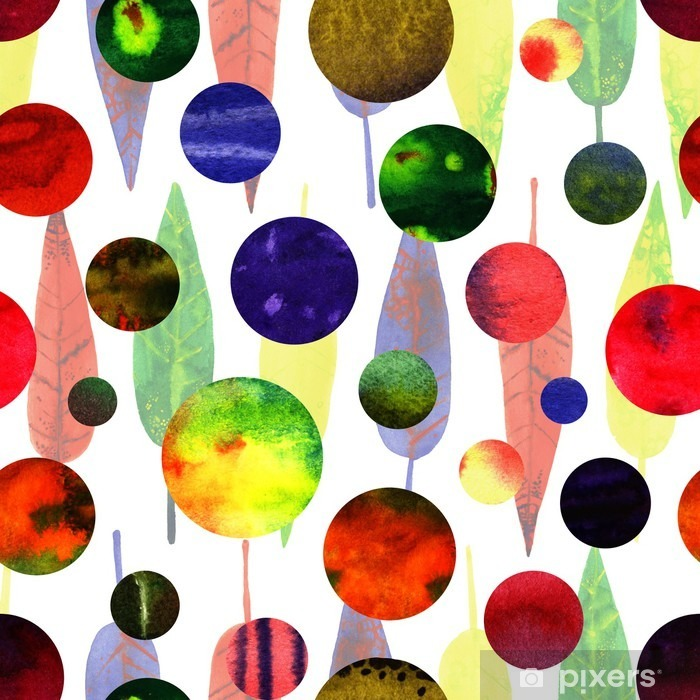 watercolor abstract circles Vinyl Wall Mural - Graphic Resources