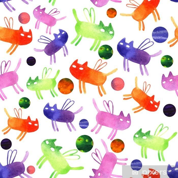 Fototapeta winylowa Cat akwarela - Zwierzęta