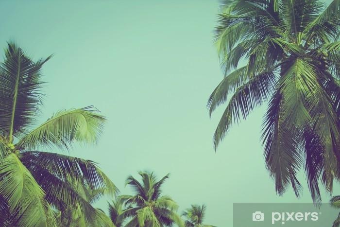 Carta Da Parati Palme.Carta Da Parati Palme Da Cocco Al Filtro Vintage Spiaggia Tropicale
