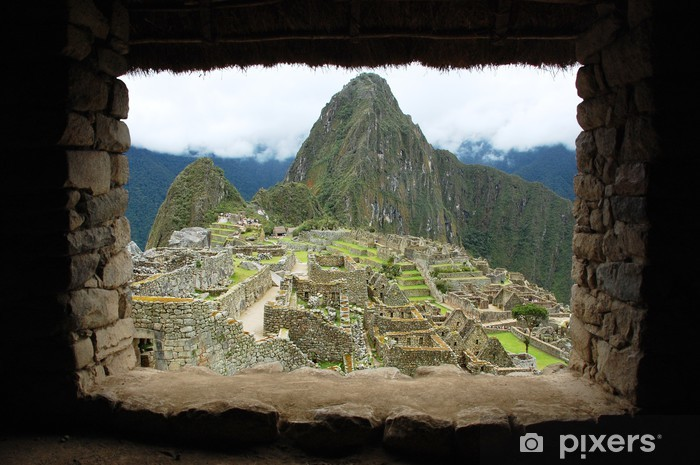 Fotomural Estándar Machu Picchu a través de la ventana del Inca (Perú) - América