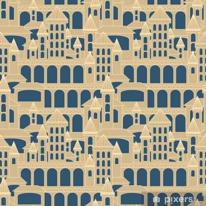 Castle seamless pattern.Vector illustration. Pixerstick Sticker - Graphic Resources
