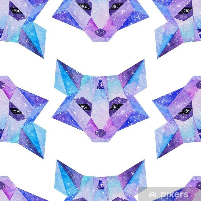 Naklejka Pixerstick Akwarela kosmiczne zwierzęta. Ręcznie rysowane ilustracji - Zwierzęta
