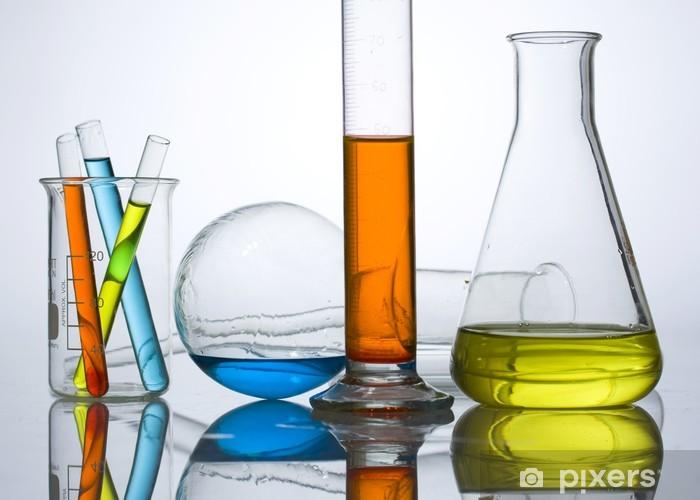 Aufkleber Chemie Laborgeräte Reagenzgläser Pixerstick