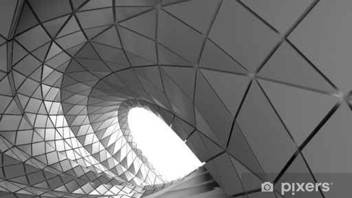 Abstract curve of tunnel Vinyl Wall Mural - Graphic Resources