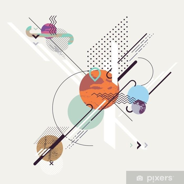 Nálepka Pixerstick Abstraktní moderní geometrické pozadí - Grafika
