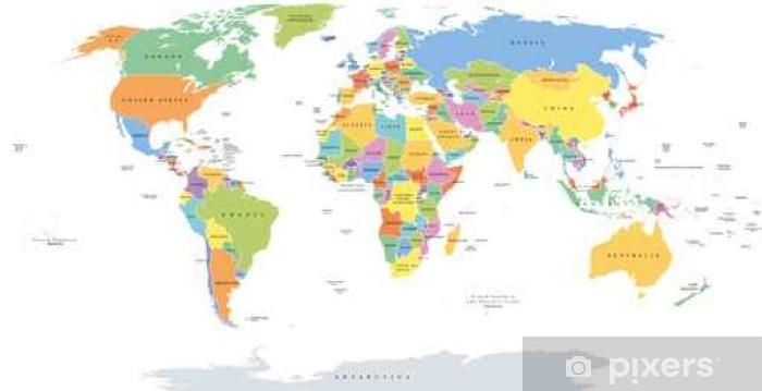 Maailman Yksittaisten Valtioiden Poliittinen Kartta Kansallisten