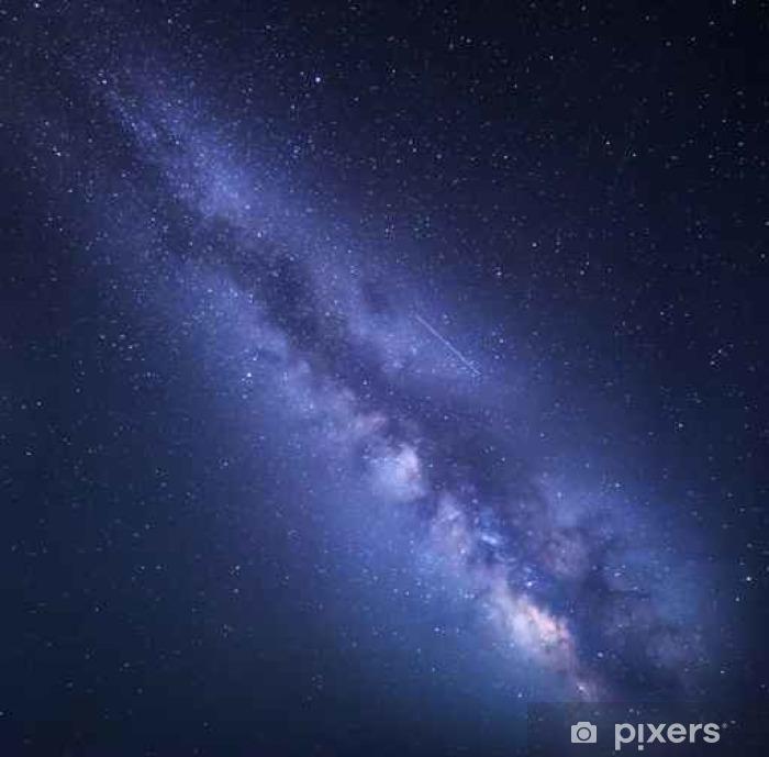Fototapet av vinyl Night starry himmel med Milky Way. Natur bakgrunn - Lanskap