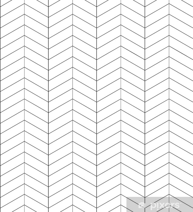 Fotomural Estándar Textura de espina de pescado en blanco y negro sin fisuras. Fondo de vector para tarjetas de felicitación, papel de regalo y su creatividad - Recursos gráficos