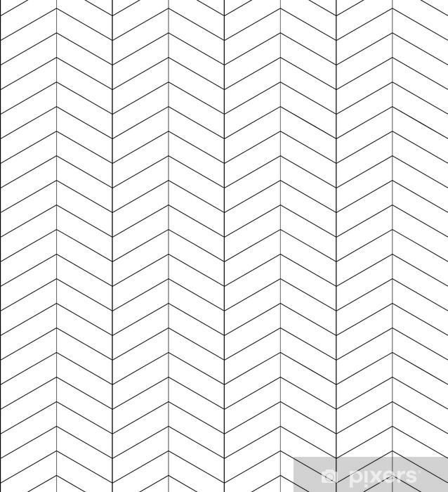 Fototapet av vinyl Sømløs svart og hvit sildbein tekstur. vektor bakgrunn for gratulasjonskort, innpakningspapir og kreativitet - Grafiske Ressurser
