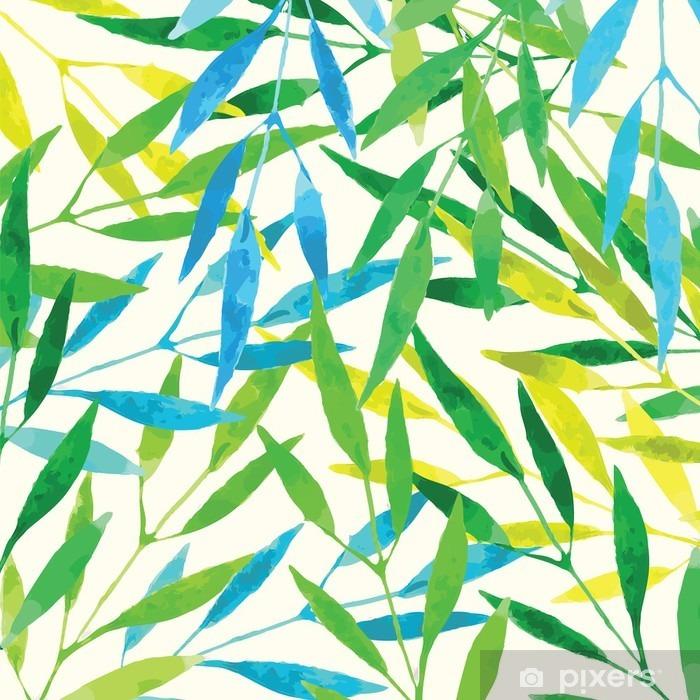 Vinyl Fotobehang Tropische bladeren - aquarel imitatie - Grafische Bronnen