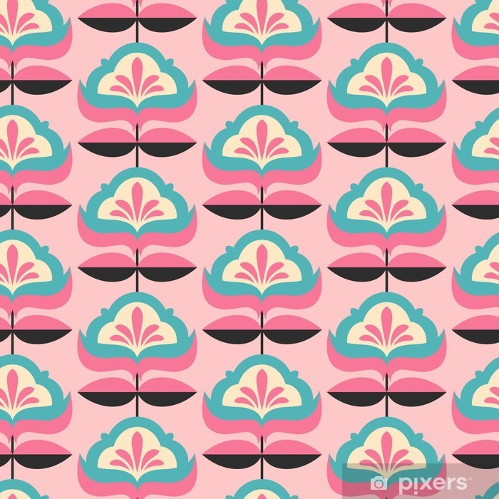Pixerstick Aufkleber Nahtlose Jahrgang Blumenmuster - Grafische Elemente