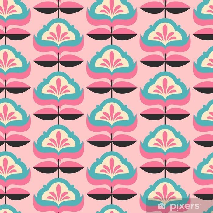 Sticker Pixerstick Motif de fleur vintage transparente - Ressources graphiques