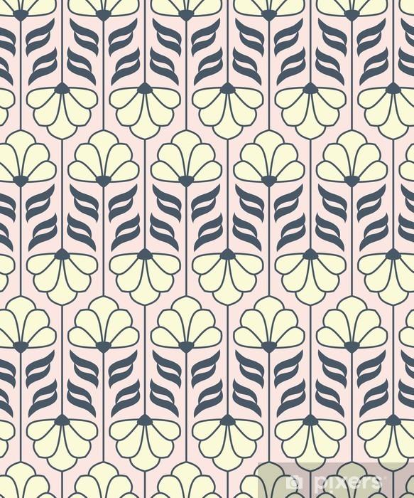 Naklejka Pixerstick Bez szwu rocznika wzór kwiatowy - Rośliny i kwiaty