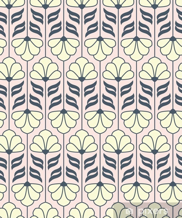 seamless vintage flower pattern Pixerstick Sticker - Plants and Flowers