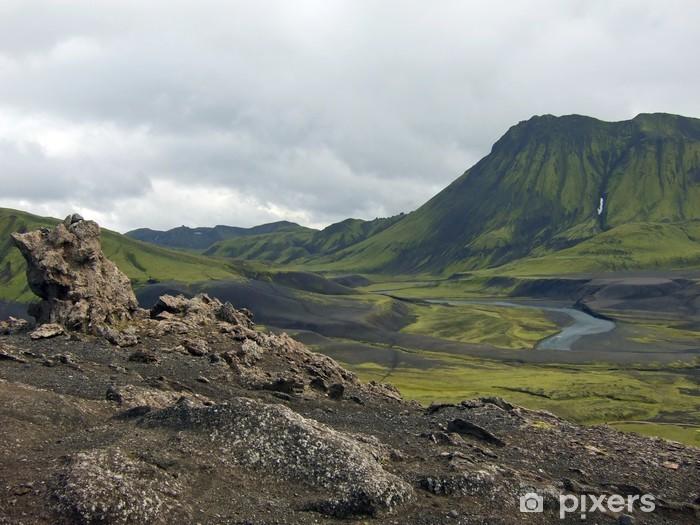 Naklejka Pixerstick Islandia: Laugavegur szlak - Góry