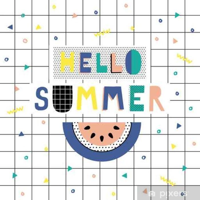 Papier peint vinyle Bonjour affiche d'été - Ressources graphiques