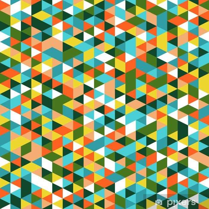 Papier Peint Retro Seamless Style Triangle Triangles Aleatoirement