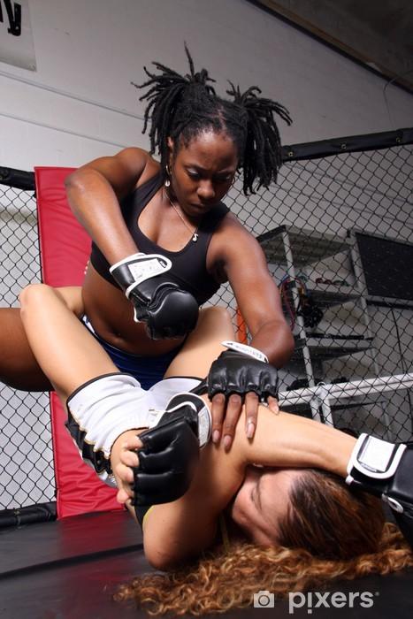 Vinilo Pixerstick Mujeres combatientes de MMA - Temas