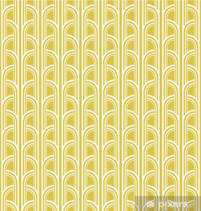 Mural de Parede em Vinil Sem costura vintage padrão geométrico - Recursos Gráficos