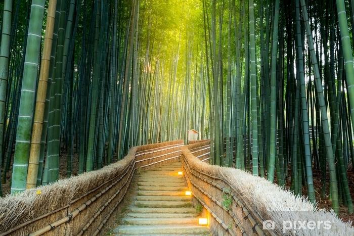 Vinil Duvar Resmi Arashiyama bambu ormanı - Seyahat