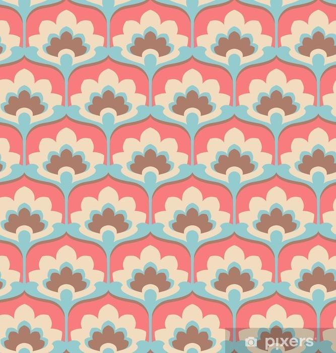 Pixerstick Sticker Naadloze vintage bloempatroon - Grafische Bronnen