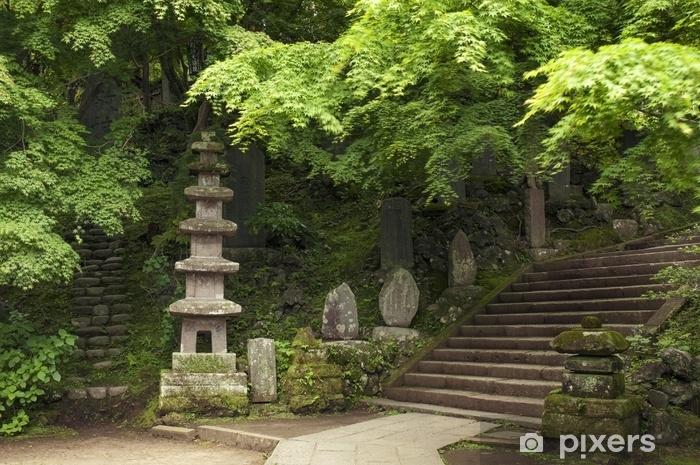 Pixerstick Sticker Japans zomer landschap - Reizen