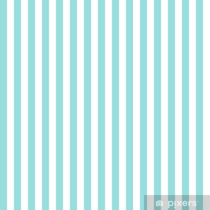 Fototapeta winylowa Pasek wzór bezszwowe zielony aqua i białe kolory. projektowanie mody wzór bez szwu. geometryczne pionowe paski streszczenie tło wektor. - Zasoby graficzne