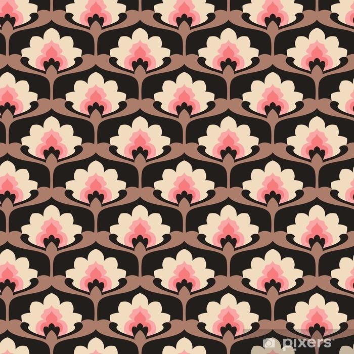 seamless vintage floral pattern Pixerstick Sticker - Graphic Resources