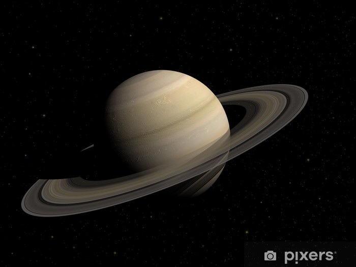 Papier peint vinyle Saturn - Planètes