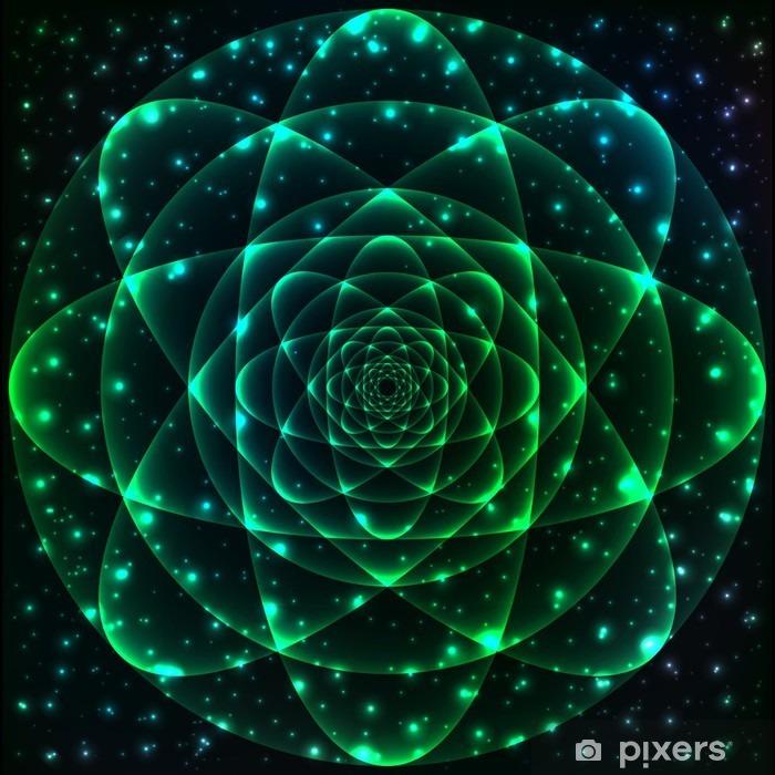 Vinilo Pixerstick Símbolo de la geometría sagrada. Mandala elemento de misterio - Ciencia