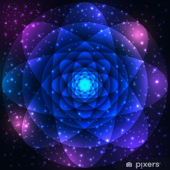 Plakat Święty symbol geometrii. Mandala elementem tajemnicą - Nauka