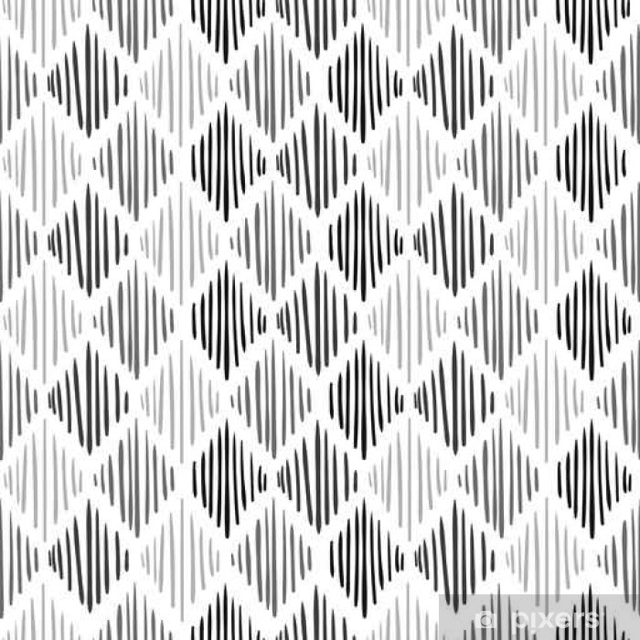 Papier Peint Modele Sans Couture Noir Et Blanc Fond De Vecteur Avec
