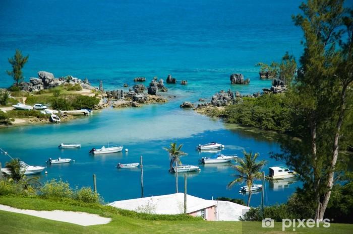 Carta da Parati in Vinile Porto bermuda - Isole
