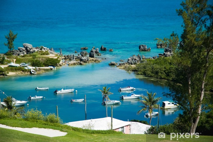 Vinil Duvar Resmi Bermuda liman - Adalar