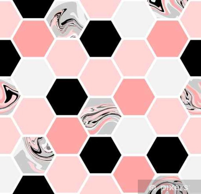 Vinyl-Fototapete Hexagon Seamless Pattern - Grafik-Ressourcen