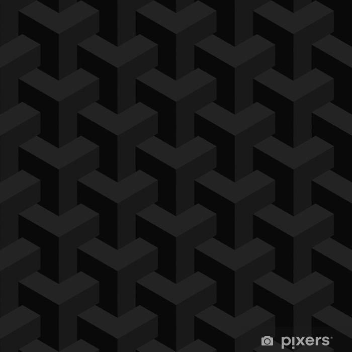 Vinilo para Nevera La textura del vector irreal, diseño abstracto, construcción ilusión, fondo negro - Recursos gráficos