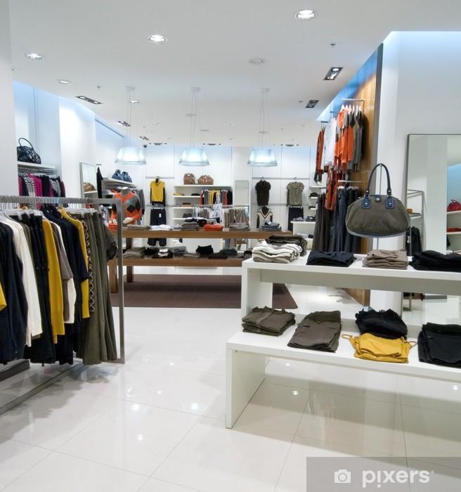 Vinyl Fotobehang Interieur van het winkelcentrum - Mode