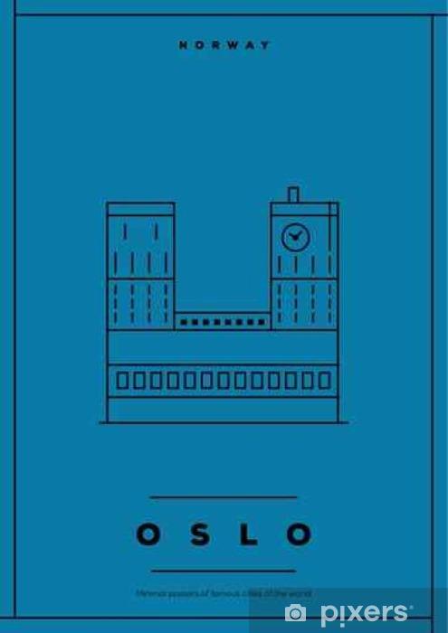 Vinylová fototapeta Minimální Oslo City Poster design - Vinylová fototapeta