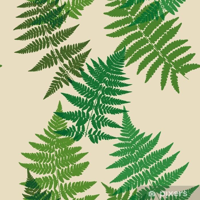 Pixerstick Sticker Naadloos patroon van varens bladeren. Vector. - Grafische Bronnen