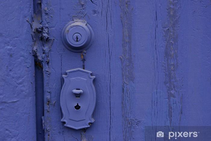 Naklejka Pixerstick Fioletowy malowane drzwi z obszaru tekstu - Zabytki