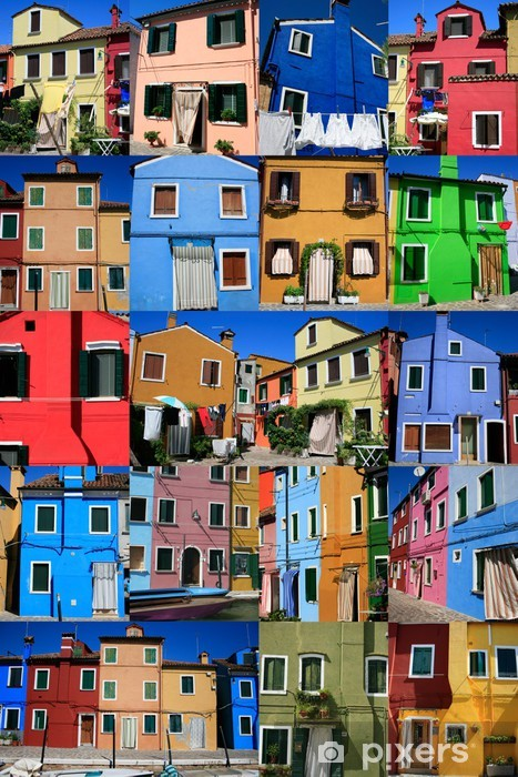 Fototapeta winylowa Les Maisons colorées de pêcheurs à Burano - Miasta europejskie