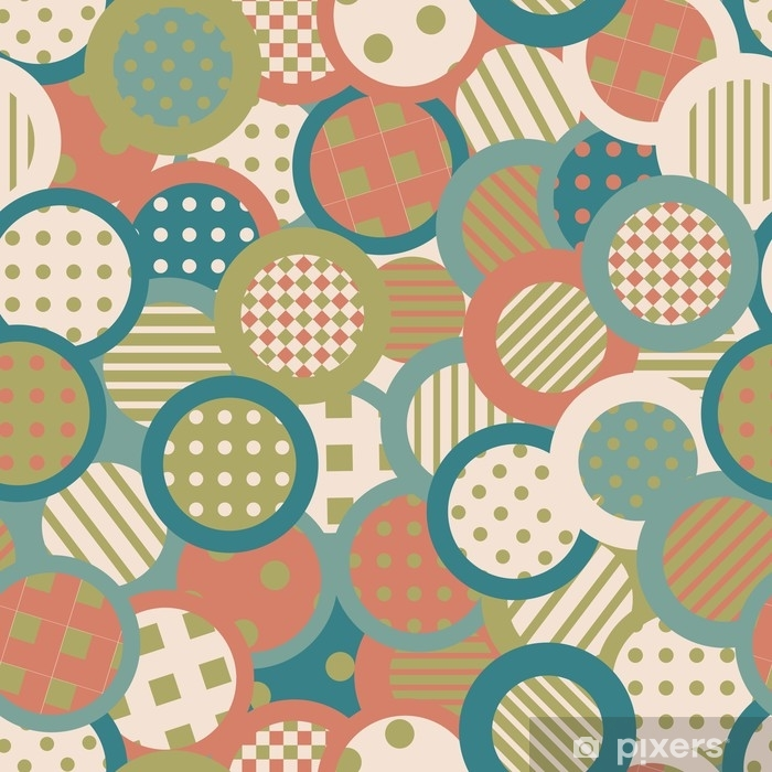 Vinyl Fotobehang Vintage achtergrond met cirkels en ronde vormen - Grafische Bronnen