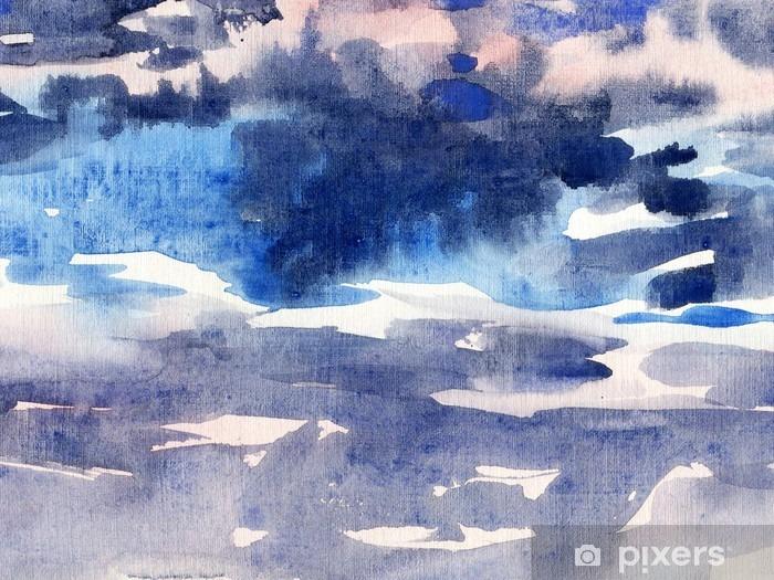 Akvarel baggrund himmel Vinyl fototapet - Grafiske Ressourcer